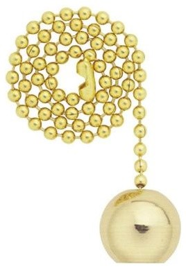 Fan Pull Chain: Westinghouse Solid Brass Ball Pull Chain 7700400 ...