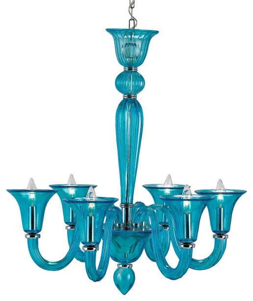 Justina Chandelier in Turquoise eclectic-chandeliers
