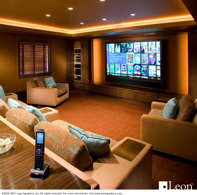... - Traditional - Home Theater - los angeles - by Leon Speakers, Inc