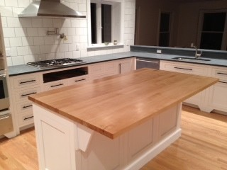 Brunton Kitchen Island With Butcher Block : Solid Maple Butcher Block Island Top