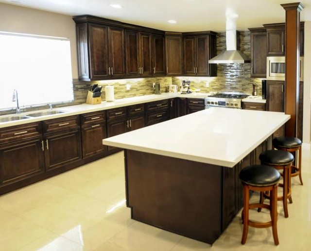 Chocolate Truffle - Traditional - Kitchen Cabinetry - new york - by ...