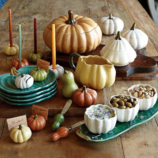 Heirloom Pumpkin Serveware Collection eclectic serveware
