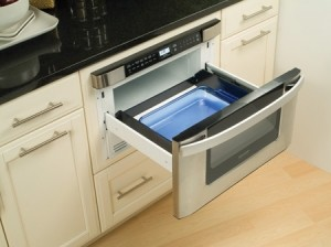 Sharp 24-Inch Built-In Microwave Drawer eclectic-microwave-ovens