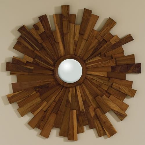 Global Views Industrial Wooden Mirror traditional-mirrors