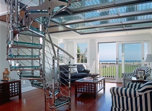 Observation room modern staircase other metro by for House plans with observation room