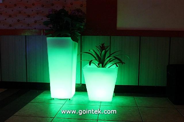 Solar Light With Flower Pot