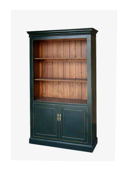 Black Bookcase Storage Tall Display Cabinet - On SALE
