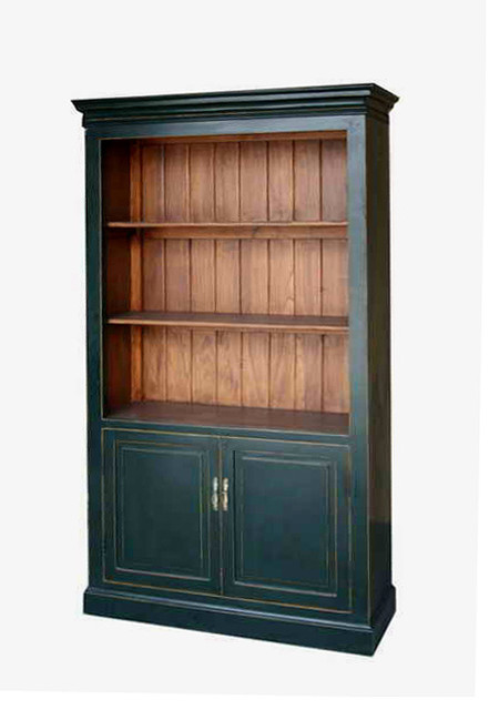 Black Bookcase Storage Tall Display Cabinet - Asian ...