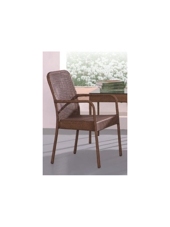Rattan Patio Chair 443-SO - This rattan patio dining chair will instantly enhance any outdoor decor.