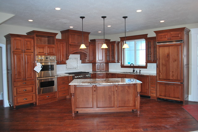 Knotty Cherry Kitchens traditional