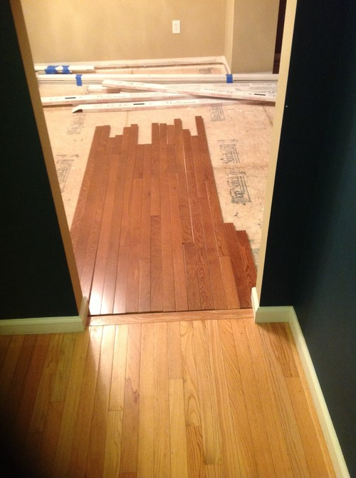 Can 39 t match wood floor colors what to do for Can you paint engineered wood floors