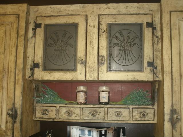 Primitive Kitchen Cabinets - cosbelle.com