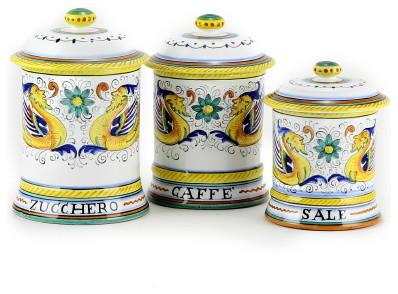 raffaellesco three canister set sale caffe zucchero cat canister set for sale classifieds