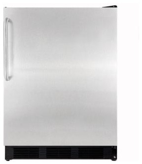 Summit Appliance 5.5 cu. ft. Mini Refrigerator in Stainless Steel FF7BBISSTB contemporary-refrigerators