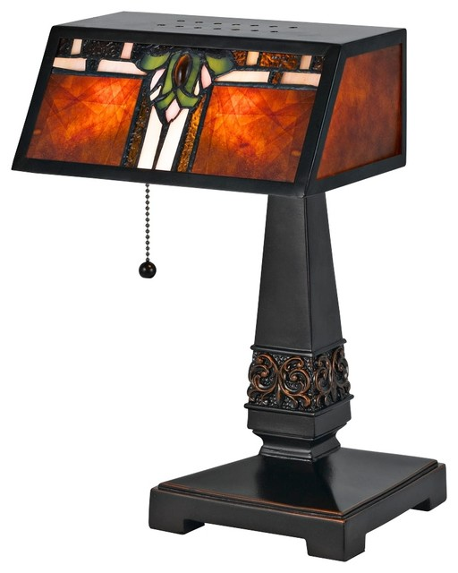 mica tiffany style desk lamp modern table lamps by lamps plus. Black Bedroom Furniture Sets. Home Design Ideas