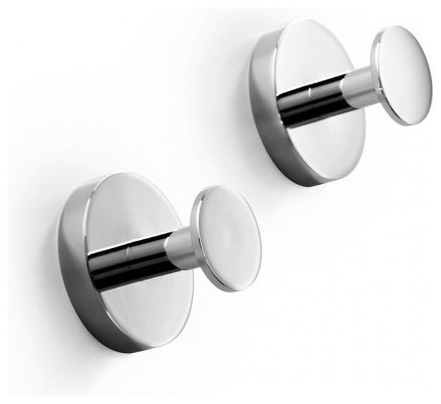 Duemila self adhesive towel hook contemporary for Bathroom hooks