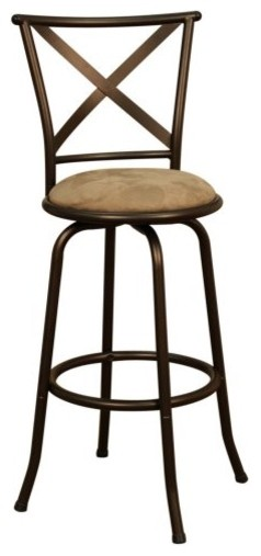 AHB Santina 24 in. Swivel Counter Stool - Coco contemporary-bar-stools-and-counter-stools