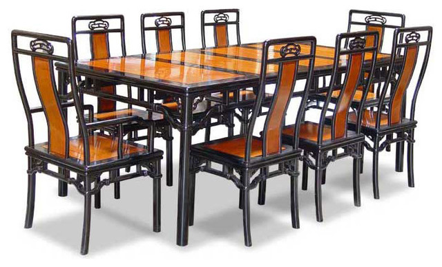 80in Rosewood Ming Style Dining Table with 8 Chairs