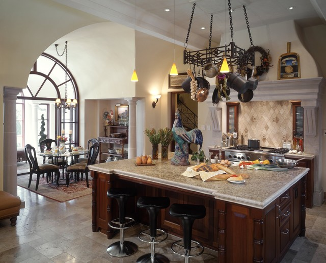 barton creek italian villa kitchen mediterranean