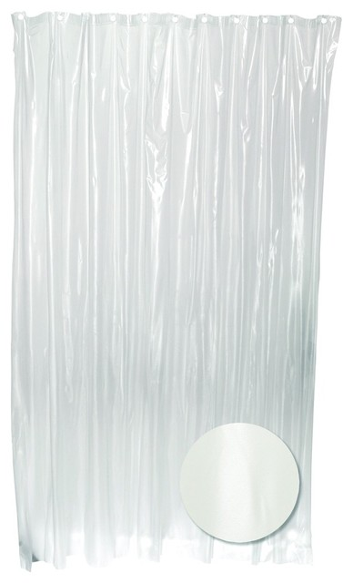 zenith h29kk pvc vinyl clear heavy gauge shower curtain