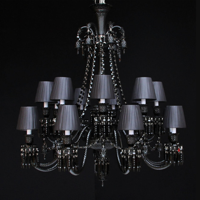 18 light black chandelier contemporary