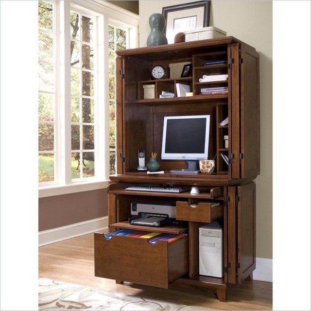 Home Styles Arts Crafts Compact Desk And Hutch Cottage