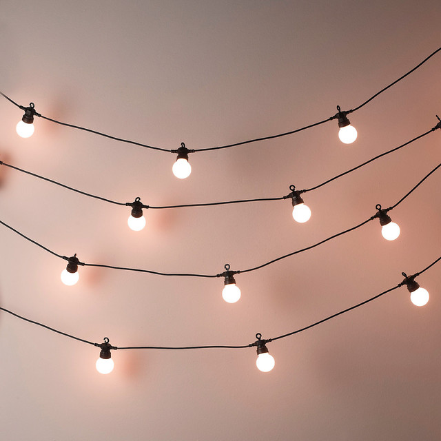 Bistro Bulb Fairy Lights 20 Bulbs Contemporary Outdoor Rope And String Lights By The
