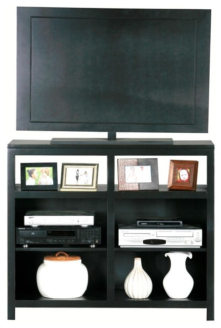 Adler 42 in. Tall TV Stand (Black) - Contemporary - Entertainment Centers And Tv Stands - by ...