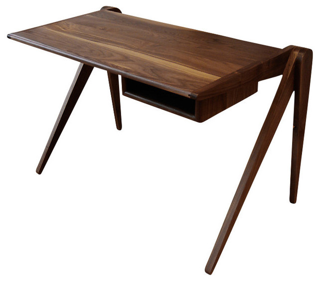 New Breed Desk With Cubby Midcentury Desks And Hutches