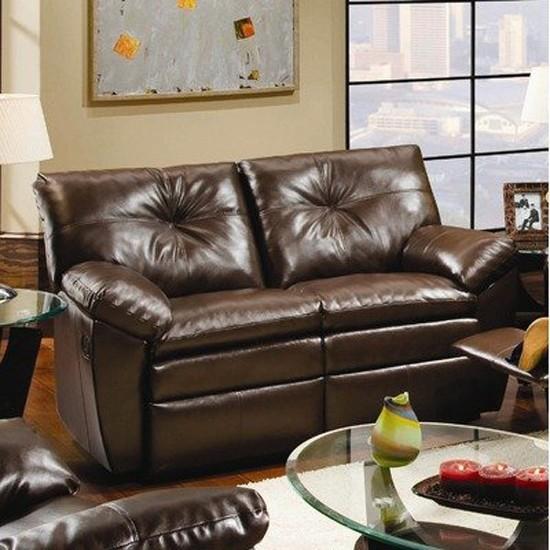 Simmons Upholstery Sebring Bonded Leather Loveseat In
