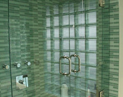 Frameless Tub Enclosure modern showers