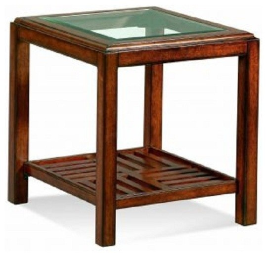 Bassett Mirror Townsend Rectangular End Table T2046 200 Traditional Coffee Tables Salt