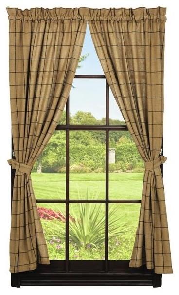 Burlap Panel, Natural, Burlap Check rustic-curtains