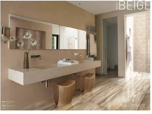 Wood Look Porcelain Tile Bathroom