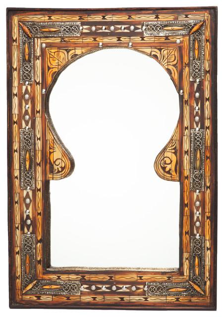 Moroccan Keyhole Arch Inlaid Mirror - Mediterranean - Wall Mirrors - portland - by Moroccan Buzz ...