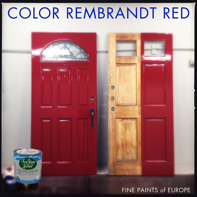Fine Paints of Europe High Gloss Red Door - Traditional - seattle - by Shearer Painting ...