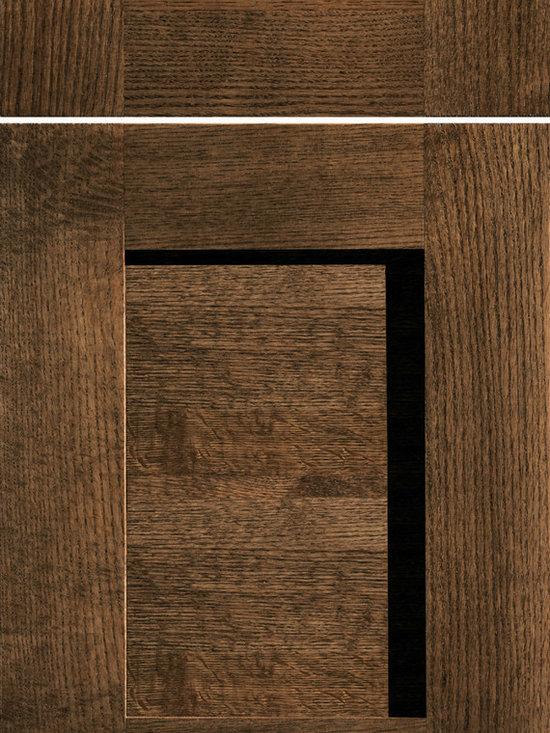 "Dura Supreme Cabinetry - Dura Supreme Cabinetry Sonoma Cabinet Door Style - Dura Supreme Cabinetry ""Sonoma"" cabinet door style in Quarter-Sawn Red Oak shown with Dura Supreme's ""Praline"" gray stain finish."
