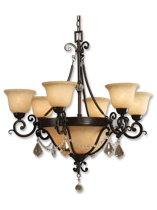 Gianni 6-Light Chandelier by Uttermost UM-21213 - About Uttermost The mission of the Uttermost Company is simple: to make great home accessories at reasonable prices. This has been their objective since founding their family-owned business over 30 years ago. Uttermost manufactures mirrors art metal wall art lamps accessories clocks and lighting fixtures in its Rocky Mount Virginia factories. They provide quality furnishings throughout the world from their state-of-the-art distribution center located on the West Coast of the United States.
