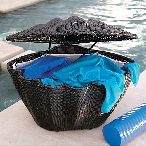 Clam Storage Basket - Frontgate - Contemporary - Baskets - by FRONTGATE