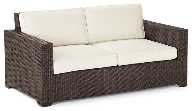 Palermo Outdoor Loveseat with Cushions Frontgate Patio Furniture Traditi