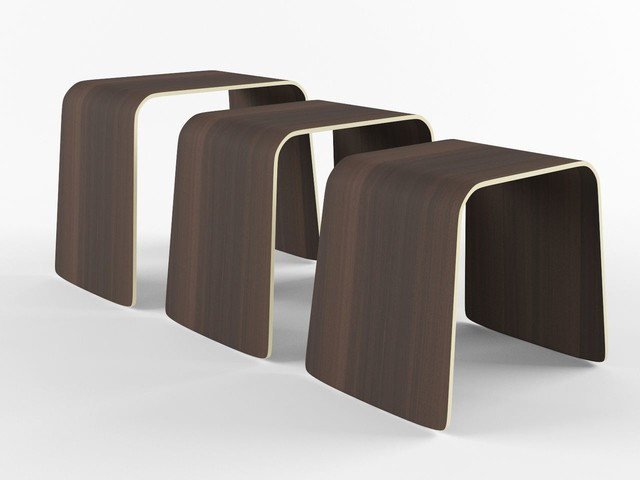 Minimal Nesting Tables: Walnut modern-side-tables-and-end-tables