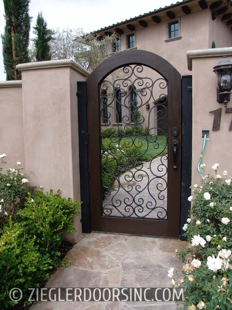 Mediterranean Custom Wood Amp Iron Gate