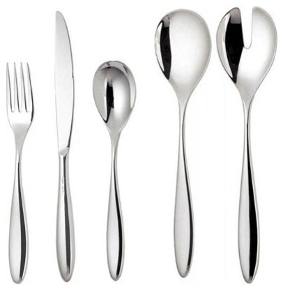 Mami 24 Piece Cutlery Set in Mirror Polished by Stefano Giovannoni modern-flatware