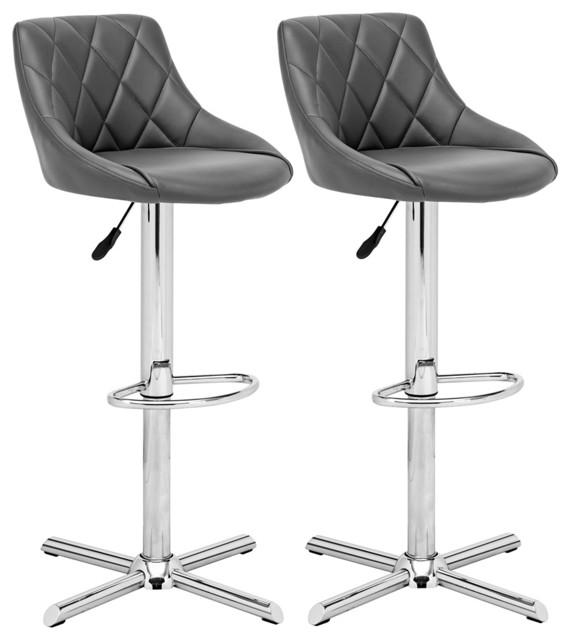 Zuo Devlin Gray Barstool contemporary-bar-stools-and-counter-stools