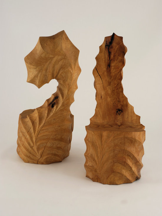 The Giardina Series Sculptural Chairs - Art | Harrison Collection - This Collection consists of a Series of Twelve Wood Chairs that are one of a kind. Each chair is hand carved from a solid block of wood and no two will be exactly alike.