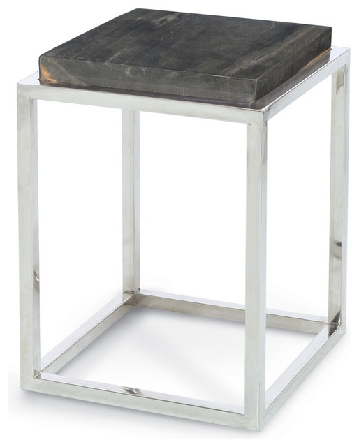 Petrified Wood Pedestal, Small - modern - side tables and accent
