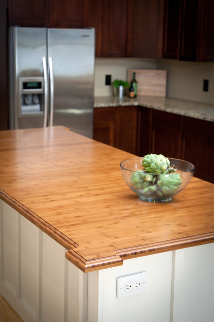 heritage wood kitchen countertop in bamboo traditional kitchen countertops by artisan