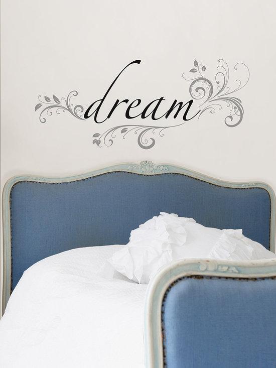 Dream Wall Phrase - A poetic wall decor idea from WallPops