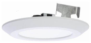 Recessed Led Vanity Lights : Halo 6 in. LED Recessed White Surface Disk Light SLD606830WHR - Contemporary - Recessed Shower ...