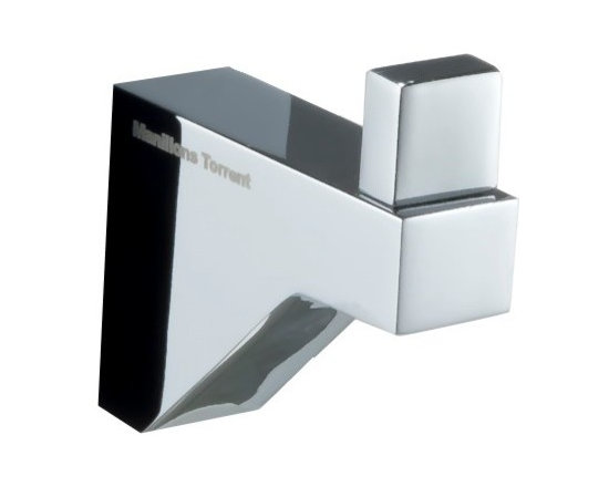 Manillons - Cristal Small Towel Robe Hook, Polished Chrome - Simple, sleek and gleaming — no wonder you're hooked! This polished chrome piece is as sturdy as it is stylish, adding to the comforting pleasure of your home bathroom.
